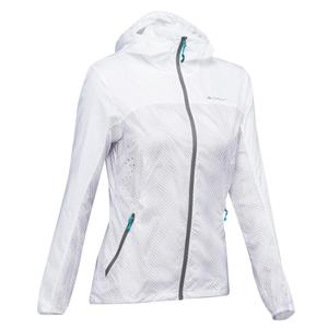 Windjacke Speed-Hiking FH500 Helium Damen weiß