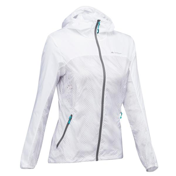 Windjacke Speed-Hiking FH500 Helium Damen weiß