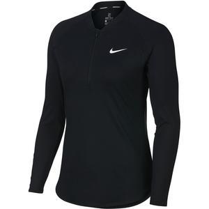 Langarmshirt Dry Pure Tennis Damen schwarz