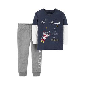 CARTER´S   2-tlg. Set Shirt langarm 2in1 und Jogginghose Space