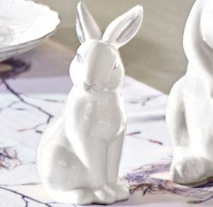 Deko-Hase aus weißem Porzellan, ca. 9,5x7,5x16,5cm