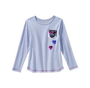 Kids Mädchen-Shirt mit Wendepailletten