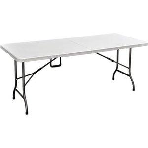 Perel Klapptisch 180 cm x 75 cm Weiß