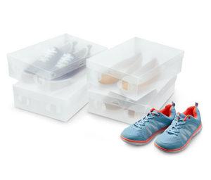 4 Schuhaufbewahrungsboxen