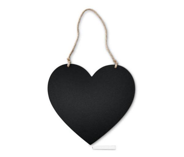Kreidetafel in Herzform