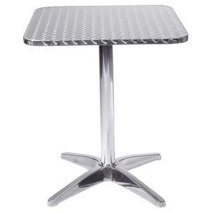 METRO Professional Tisch Torino 60 x 60 cm Silber
