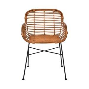 Rattan-Sessel mit Armlehnen