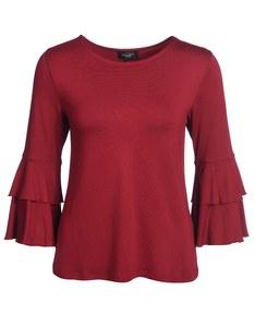 Bexleys woman - Shirt mit Volantarm