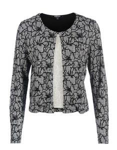 Steilmann - Jacke mit Glencheck-Blumen-Muster