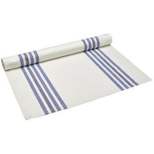 IDEENWELT Halbleinen-Tischläufer blau