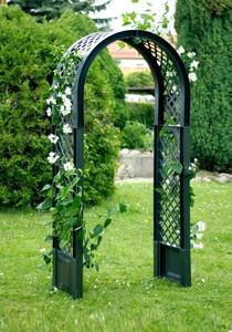 KHW Rosenbogen mit zwei Erdspießen, grün