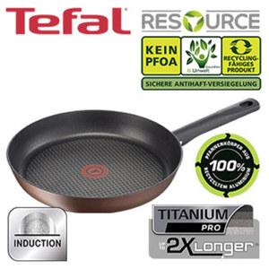 "Serie ""Resource"" - 100 % recyceltes Aluminium - Titanium-PRO-Antihaft-Versiegelung, Bratpfanne - ca. 28 cm Ø"