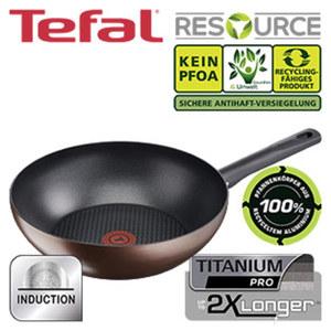 "Serie ""Resource"" - 100 % recyceltes Aluminium - Titanium-PRO-Antihaft-Versiegelung, Wokpfanne - ca. 28 cm Ø"