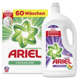 Ariel Waschmittel 47/60 Waschladungen, versch. Sorten, jede Packung