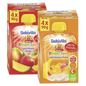 Bebivita Kinder-Spaß versch. Sorten, jede 4 x 90-g-Packung