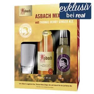 Asbach Uralt 38 % Vol.,  jede 0,35-l-Flasche