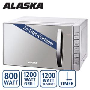 Mikrowelle MWD 4823 GC · 5 Mikrowellen-Leistungsstufen · 4 Kombi- und 1 Grillprogramm · 12 autom. Garprogramme · inkl. Edelstahl-Grillrost · Maße: H 29,3 x B 48,5 x T 40,5 cm