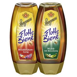 Flotte Biene Wild-, Obst-, Wald-, oder Wildlavendel-Blütenhonig jede 500-g-Squeezeflasche