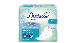 Duchesse Ultra Binden Normal mit Flügel, 16 Stück