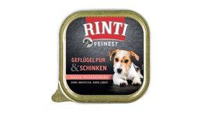 RINTI Hundenassfutter Feinest Geflügel Pur & Schinken