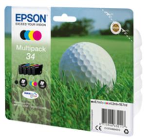 Epson 34 - 4er-Pack - Schwarz, Gelb, Cyan, Magenta - Original - Blisterverpackung - Tintenpatrone