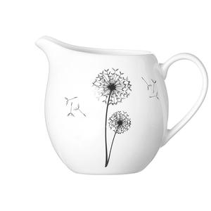 Zauberwerk - 'Wunschblume' Milchgießer 200 ml, weiß/schwarz (1 Stück);  56310