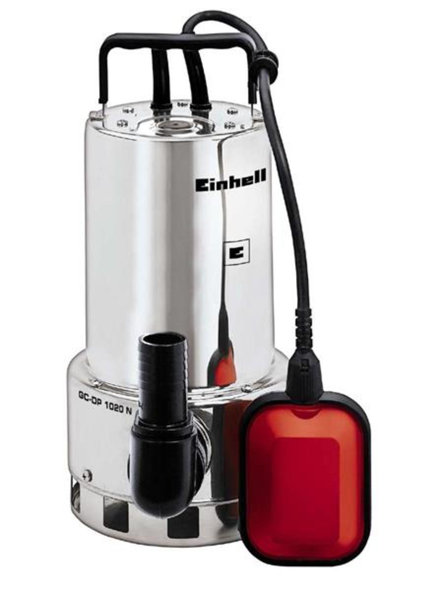 Bild 1 von Einhell Schmutzwasserpumpe GC-DP 1020 N, Leistung 1000 Watt, Fördermenge max. 18000 l/h, Förderhöhe max. 9 m, 4170773