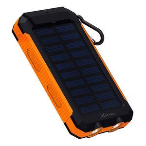 XLayer  Outdoor Powerbank PLUS Solar 8000 mAh Solarpanel Karabiner Taschenlampe