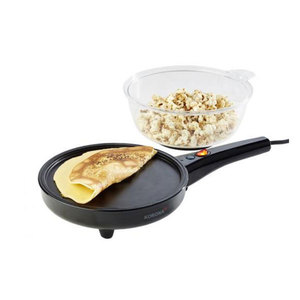 Korona Popcorn/Crepes schwarz, 800 Watt