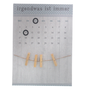 Kalender 'irgendwas ist immer' Metall