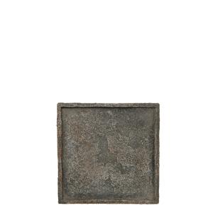 Mica Decorations Antica Platte/Untersetzer quadrat dunkelgrau - l24xb24xh2cm; 1027692