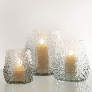 Dragimex, Windlichtglas, rauchgrau, 17,5x18,5 cm H, 60265