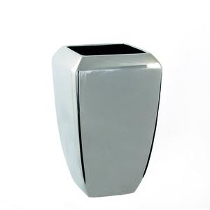Mica Decorations Moro Vase quadrat silber - l15xb15xh25cm; 412158