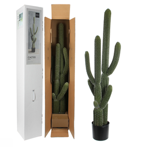 Mica Decorations Cactus im Kunststofftopf gruen - h145xd55cm; 1047942