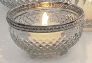 Dragimex, Lichtschale m/Rand, Glas, 9x4,5 cm H, 53688