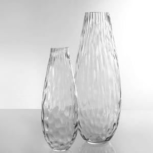 Dragimex, Vase, grau, 11 x 29 cm H, 63478