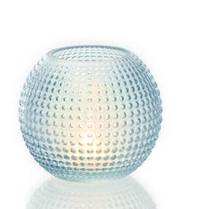 Dragimex, Windlichtglas, blau, 14 x 13 cm H, 55701