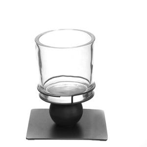 Dragimex, Metallstand 'Sphere', anthrazit 22 cm H, 66691