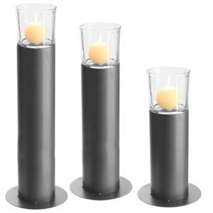 Dragimex, Metallstand mit Glas, anthrazit, 43 cm H, 62992