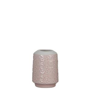 Mica Decorations Paddle Vase rund rosa - h11xd8,5cm; 1044040
