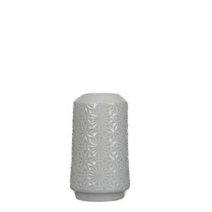 Mica Decorations Paddle Vase rund grau - h14xd8,5cm; 1044039