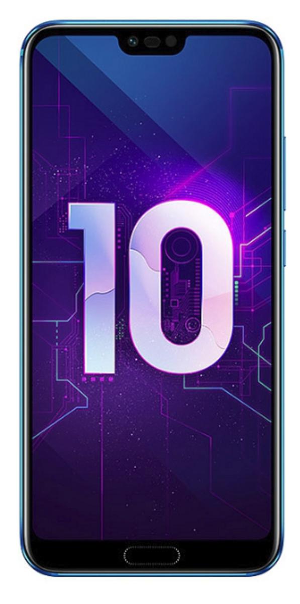 Bild 1 von Huawei Honor 10 128 GB Smartphone - Blau - 14,8 cm (5,8 Zoll) LTPS LCD 2280 x 1080 Full HD Plus Touchscreen - 4 GB RAM - 4G - Kirin 970 - 24 Megapixel Rückseite/24 Megapixel Vorderseite - Android 8.