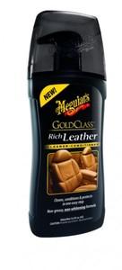 Meguiar's G17914EU Gold Class Rich Leather Cleaner/Conditioner Lederreinigung- und pflege, 400 ml
