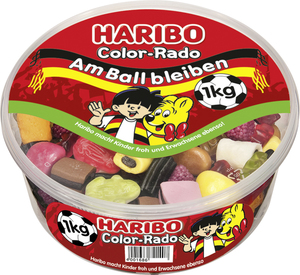 Haribo Color-Rado, Gummibärchen, Weingummi, Fruchtgummi, 1000g Dose
