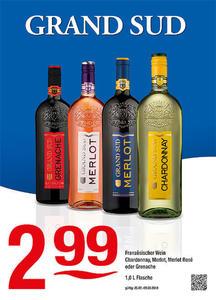 Grand Sud Französischer Wein Chardonnay, Merlot, Merlot Rosé oder Grenache