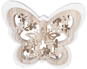 Deko-Schmetterling - aus Holz - 15 x 2 x 12 cm