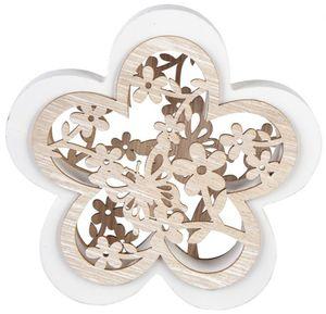 Dekoblume - aus Holz - Ø = 13,5 cm