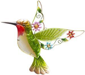 Wanddeko - Kolibri - aus Metall - 44 x 2 x 43,5