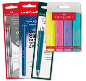 FABER-CASTELL Bleistifte, Tintenroller, Kugelschreiber und Textmarker