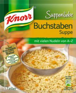 Buchstabensuppe Knorr, Suppenliebe ergibt 0,75 L